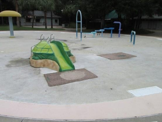 The project includes resurfacing both the main and activity pool floors; replacing three concrete bases for in-pool umbrellas; replacing tile, seams and slide landing pads.