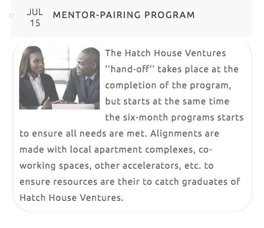 entrepreneurs who filter through the Wilmington, DE post-graduate accelerator. Hatch House Ventures does not select entrepreneurs based on any one specific industry.
