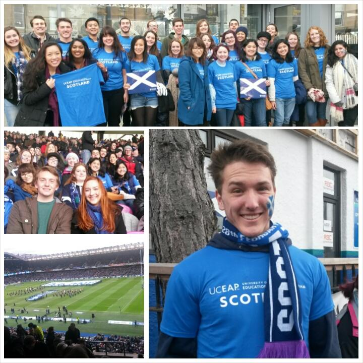 UC students studying in Scotland attended one of the most popular events in the sport of rugby as the Scotland national team took on Italy during the 6 Nations Tournament in late February.