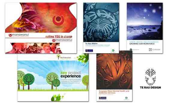 TE RAU DESIGN Te Rau Design is the in-house design team at Te Rau Matatini committed to creating unique and innovative contemporary Māori design that illuminates our publications and resources.