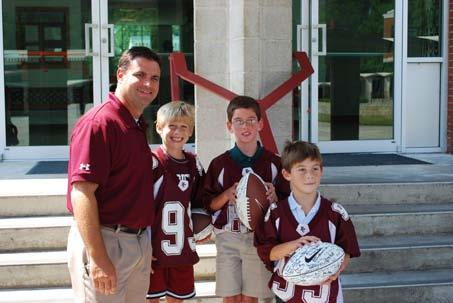 Future Cadets - Captains for the Day Each year, Benedictine donates several items to each of our feeder school auctions, among those items are the coveted BC Honorary Football Captain.