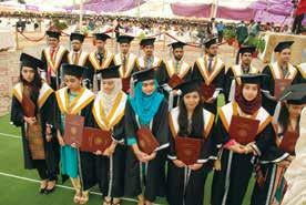 Two scholars Raheela Asif and Farid Ahmed received PhD degrees during convocation 2017.