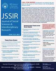 Journal of Social Sciences and Interdisciplinary Research (JSSIR) is a refereed, bi- annual journal.