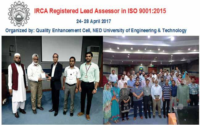 IRCA REGISTERED LEAD ASSESSOR IN ISO 9001:2015 24-28 APRIL 2017 ORGANIZED BY:
