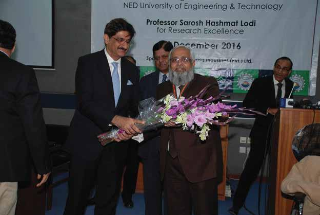 This was the second time in the history of NED University when this award has been conferred. The first award was awarded to Prof. Dr. S. F. A.