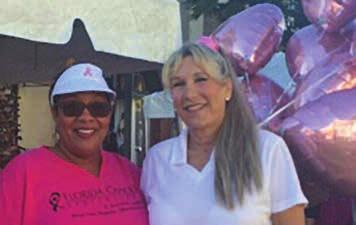 Making Strides of Pinellas Pam Venneri and Jessica Muh - DCC bake sale for Making Strides Breast Cancer Walk Daytona Beach Physician Liaisons Jolynn Wright and Julie Anning Making Strides Hernando