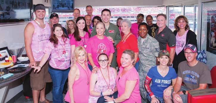 FCS patient enjoys surprise visit from her son in Tampa FCS patient Reina Campbell, whose son, Joshua Gunderson, is a U.S. Air Force captain, was full of tearful smiles at the Tampa Bay Bucs Breast