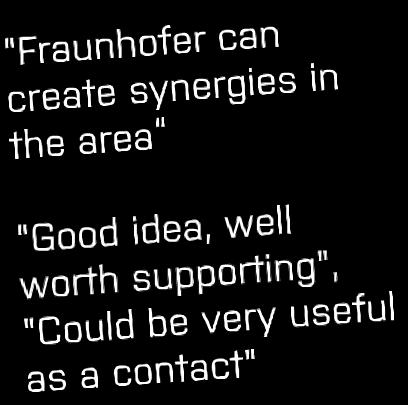 The players' comments about a Fraunhofer Center Assessment of a research institute from the companies' point of view The companies interviewed in both DK and SH were generally positive about the idea