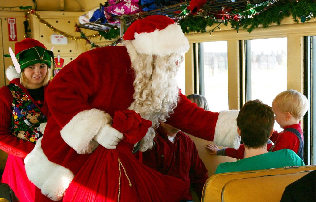 our Coopersville community friends and neighbors What: A free ride on the Coopersville and Marne Railway The Santa