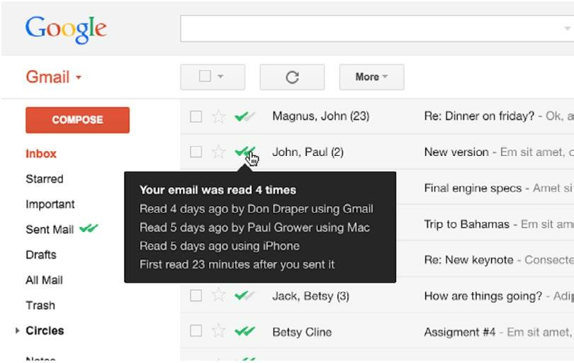 Hack #5 Keep Tabs with the MailTrack Extension for Gmail One quick and easy way to gauge the success of your recruiting emails is by tracking whether they ve been opened.