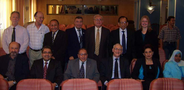 The IUGG Bureau members with the representatives of the Egyptian National Committee for IUGG 2.