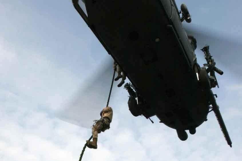 first opportunity to qualify in fast-roping and rapelling from a Pavehawk helicopter.