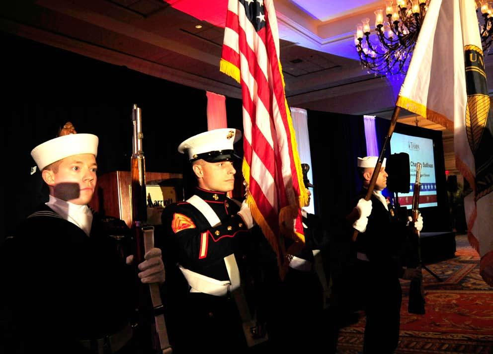 Special Operations Command Joint Service Color Guard presents the Colors at the