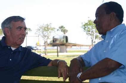 Some F-4 facts and history Photo by Nick Stubbs erella, left, and Lester O Brien sit in Memorial Park and recall ys at MacDill during and after the Vietnam War.