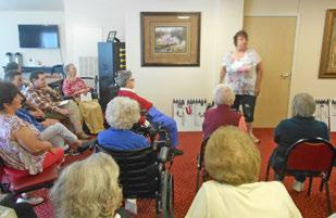 The residents enjoyed a Paparazzi jewelry party!