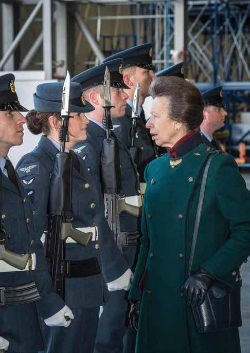 TEAM A Royal visit to RAF Brize Norton On 30th January 2015, Her Royal Highness, The Princess Royal, attended the Centenary parade of