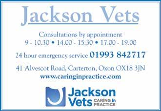 10% Discount for RAF T & C s apply, valid ID required SURGERIES IN WITNEY AND CARTERTON Consultations All Day by Appointment Vaccinations Health checks Neutering Microchip ID Comprehensive operating