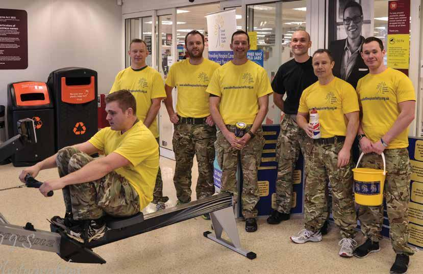 TEAM TEAM On the 31st January the Brize Norton Armourers completed a charity row the distance of Dover to Calais and back again in