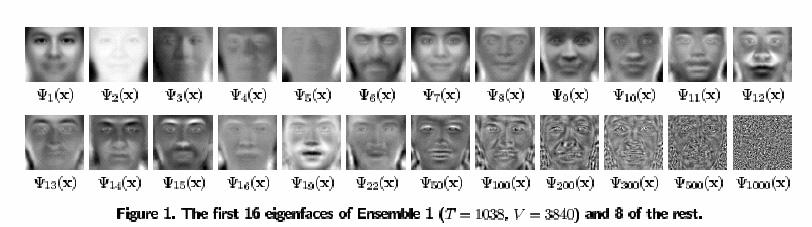 Eigenvectors (i.e. Concepts ) The characteristic function: (A-λI) = De-identification: T-mask Example continued... Captured images are deidentified below. Here is a known image of Bob.