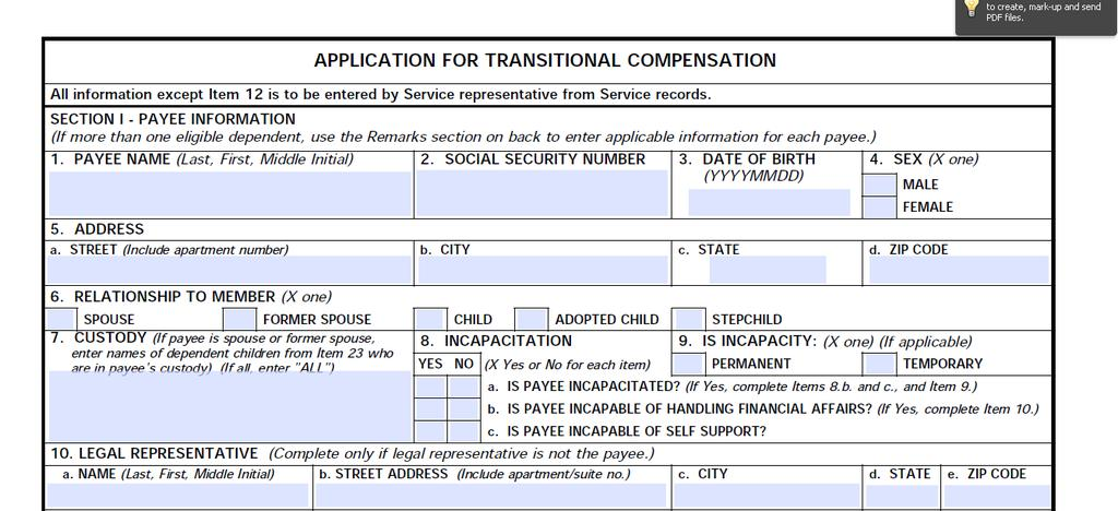 Example Application for Child Doe, Sarah J.