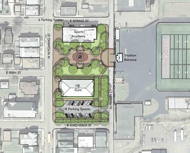 Preliminary Enhancement Options Harman-Geist Memorial Field P l a z a EXISTING Public gathering space has the ability to increase property values and quality of life for those in the immediately