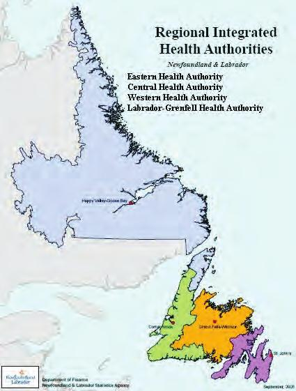 Figure 2 Health Authority Structure (2004-present) In 2005/06, there were 31 hospitals in the province of Newfoundland and Labrador classified as