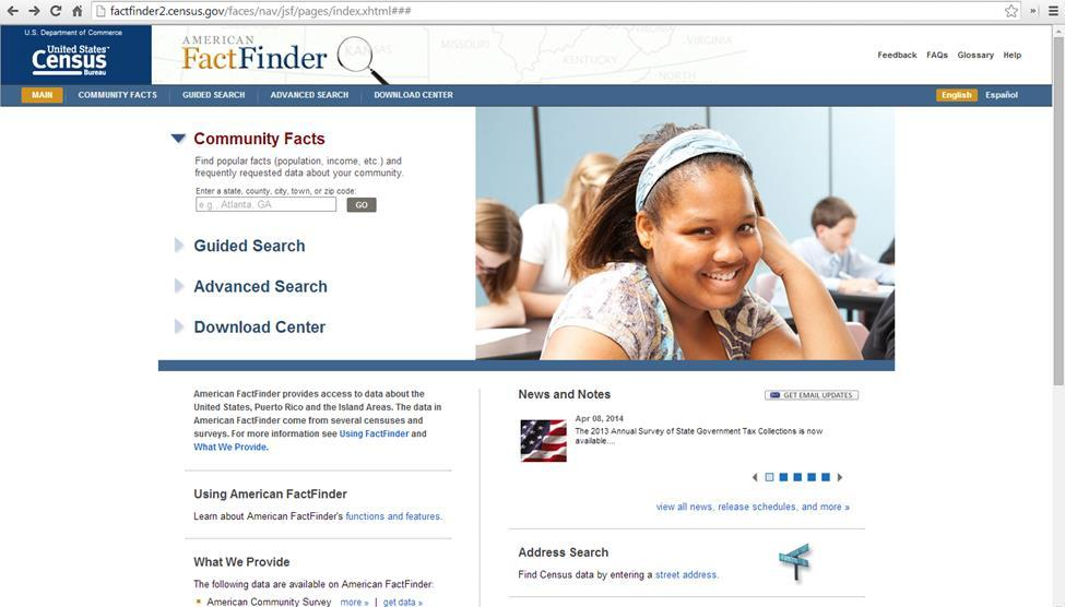 Factfinder Instructions http://factfinder2.census.