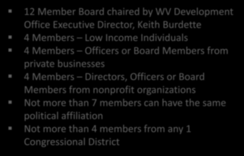 Advisory Board The program operates with an active advisory board structure as defined by 11-13J-4a.