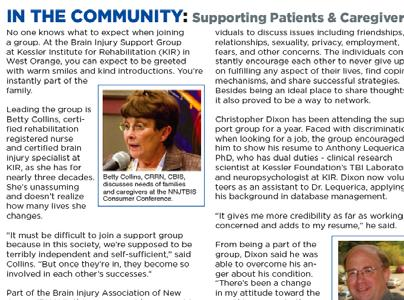 specific support groups Tip cards Examine impact of the