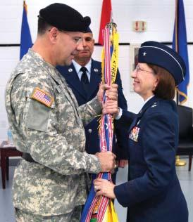 Maria Falca- Dodson assumed command of nearly 2,300 Airmen of the New Jersey Air National Guard, which includes the 108th Air Refueling Wing at McGuire Air Force Base, the 177th Fighter Wing at Egg