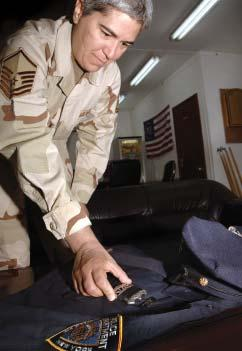 AIRMAN'S UNIFORM PART OF 9/11 DISPLAY By Tech. Sgt.
