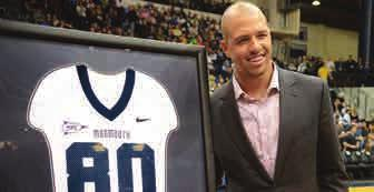 He was joined by his parents, Ann and Miles Austin II, as well as his fiancée, Stacy Sydlo '04, a former Monmouth University lacrosse player.