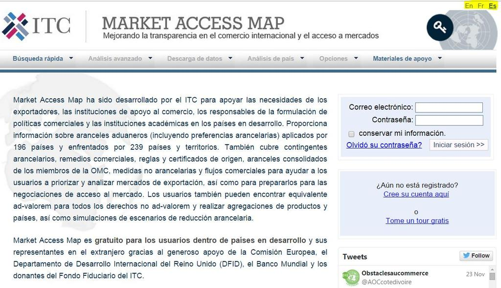 MARKET ACCESS MAP TRANSLATIONS MARKET ACCESS MAP NOW AVAILABLE IN FRENCH AND SPANISH!