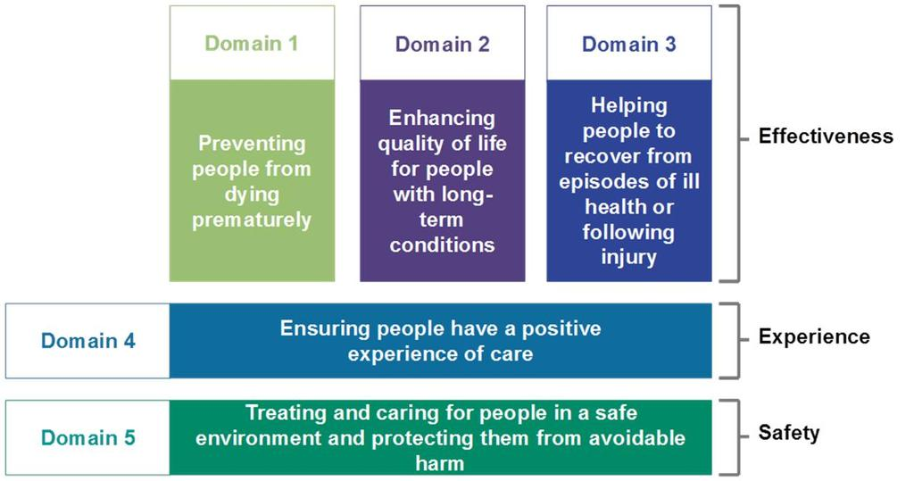 2.1 THE DOMAINS OF THE NHS OUTCOMES FRAMEWORK This Outcomes Framework underpins the delivery of this Commissioning for Quality Framework with continuous improvement in the quality of services secured