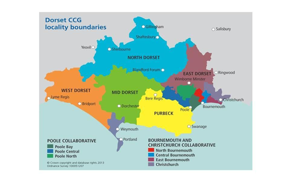 2.2 The CCG covers the same geographical area as the Local Authority boundaries of Dorset County Council, Bournemouth Borough Council and Poole Borough Council. 2.3 The CCG s mission is to : 2.
