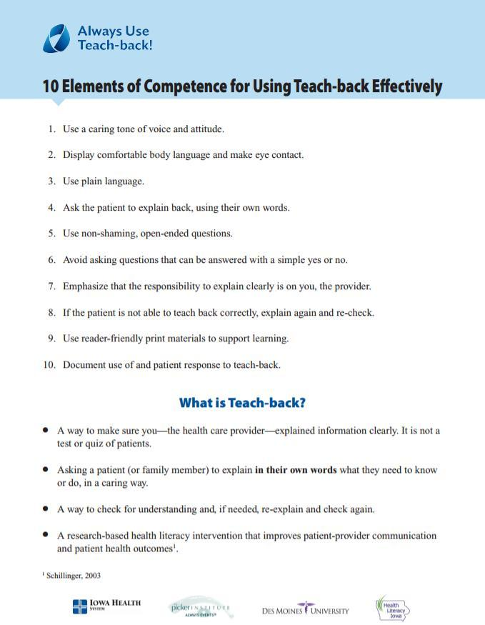 10 Elements of Competency