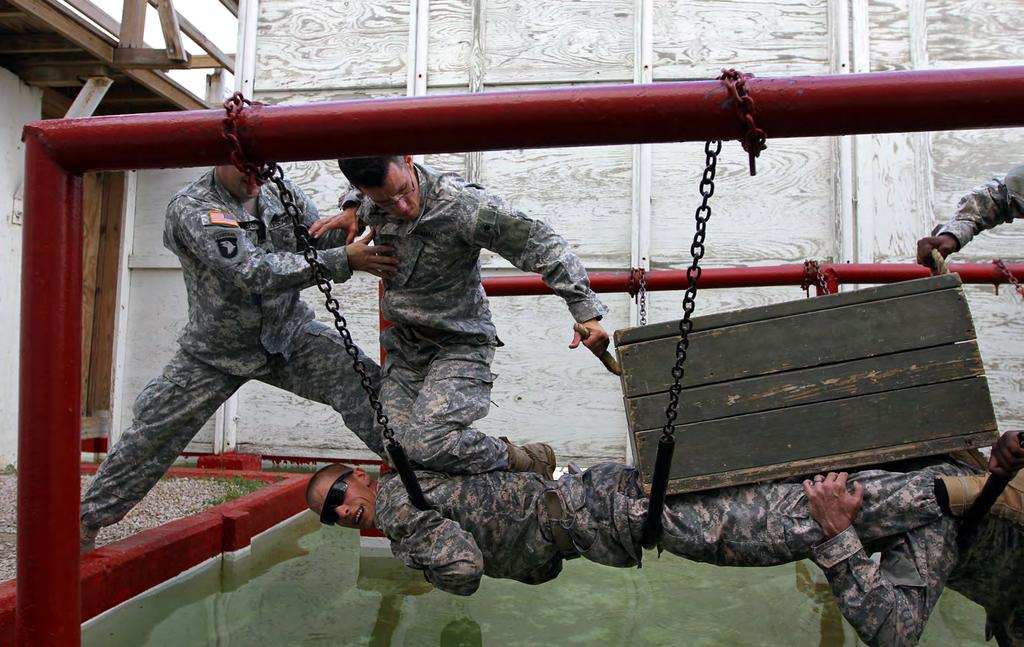 Warrior Diplomat Soldiers from Headquarters and Headquarters Company, th Civil Affairs Brigade, work as teams to negotiate obstacles at the Leaders Reaction Course on Fort Hood, Texas, Oct., 0.
