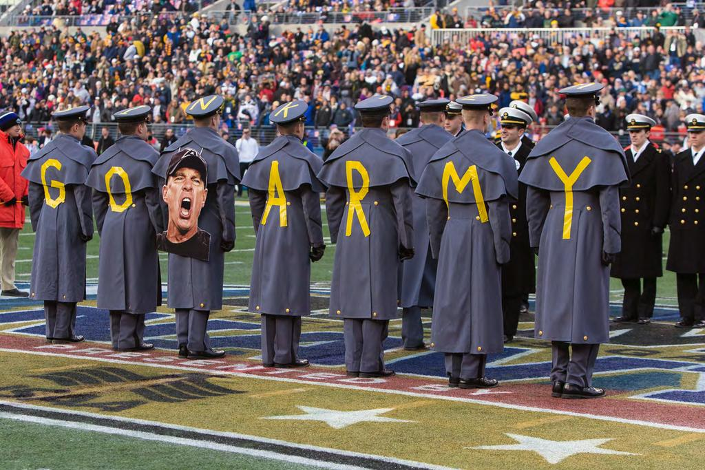West Point Cadets and Naval Academy Midshipmen square off in the 0 Army-Navy Game, Dec., 0, in Baltimore. The Midshipmen won the th meeting between the two teams -0. Photo by Sgt.