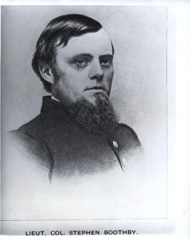 4. Stephanus Boothby (Stephen Boothby): MDCCCLVII (Class of 1857): Mortally wounded Beaver Dam Sta., Virginia in 1864; died in Point Lookout, Maryland in 1864.