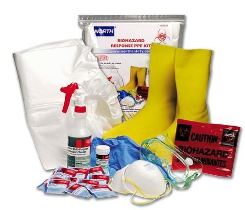 CONTENTS: Spill Clean-Up Kit Disposable gloves, face mask and safety glasses Small scoop or dust pan and brush, shovel Absorbent pads or powders for liquid spills Cleaning rags or paper towel