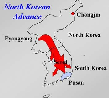 North Korea, having obtained a massive amount of weapons from the Soviet Union and the Chinese Communist Party, prepared to invade the South to establish communism in the entire peninsula.