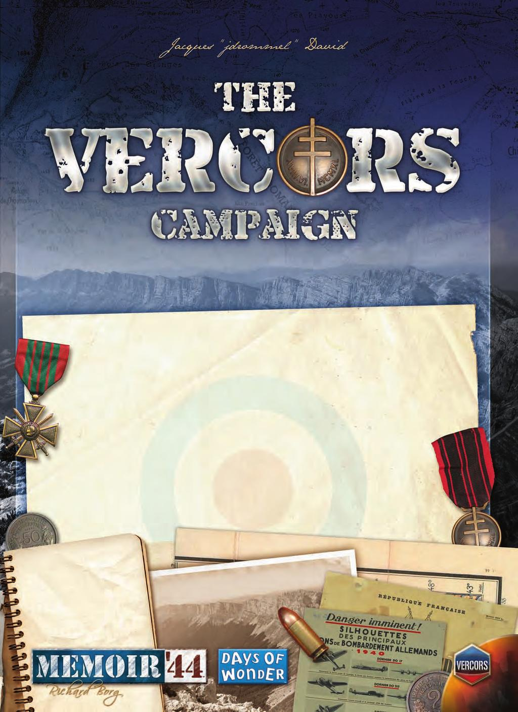 "This promotional campaign for Memoir '44 invites you to relive the darkest, most harrowing, yet glorious hours of the French Resistance as ""maquisards"" battle overwhelming SS forces on the Vercors"