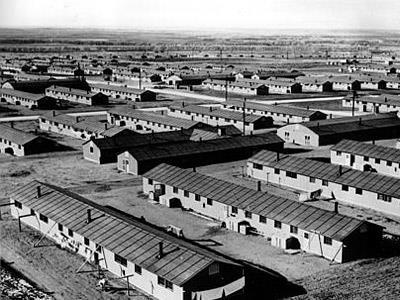 Relocation and Internment of approx. 110,000 Japanese American citizens. Japanese Americans who were too close to the Pacific Coast. Government afraid of spies.