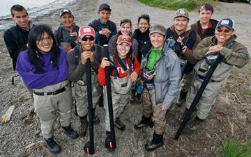 Through the Bristol Bay Campaign, ACF provided support for the Bristol Bay River Guide Academy, which provides jobs for Native youth consistant with their desire to protect salmon, the life blood of