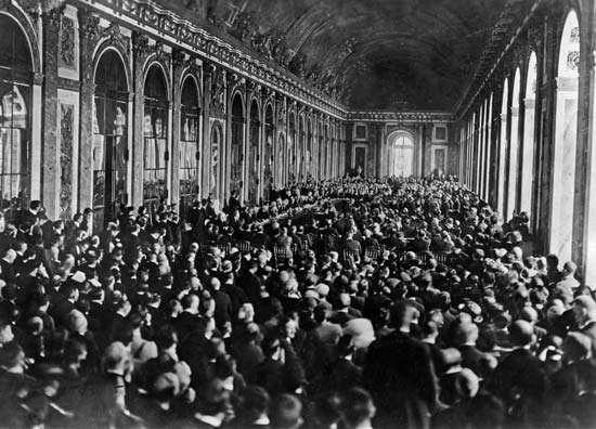 Treaty of Versailles Signed in 1919 at the Paris