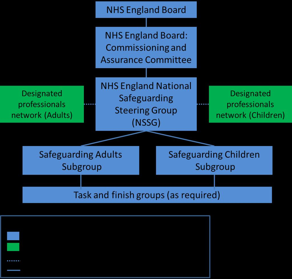 ANNEX B How NHS England maintains oversight of safeguarding NHS England s role in terms of safeguarding is discharged through the Chief Nursing Officer (CNO) who has a national safeguarding