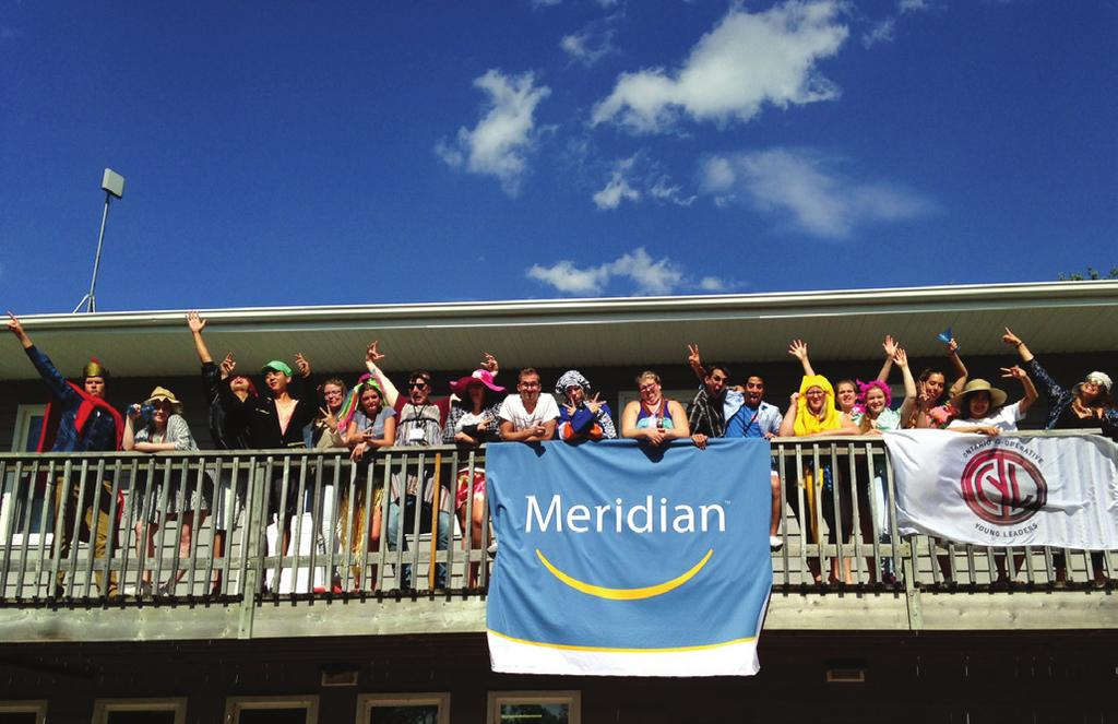 8 Co-operative Young Leaders Program Meridian awarded eight scholarships to Ontario high school students to attend one week at the Cooperative Young Leaders Program run by the Ontario Co-operative