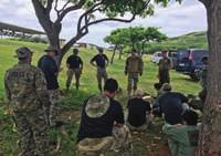 Marines at Koko Head Range Complex. Snipers from 1st Battalion, 27th Inf. Regiment, and 1st Bn., 21st Inf. Regt., 2nd IBCT, as well as snipers from 3rd Bn., 3rd Marine Regt.
