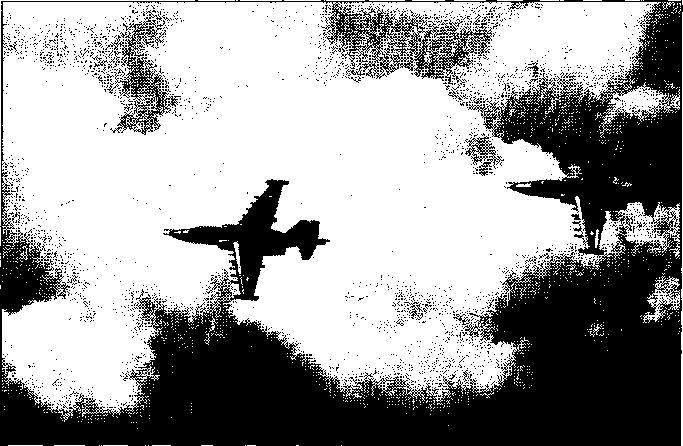 "Two SU-25 ""FROGFOOT"" close air support aircraft."