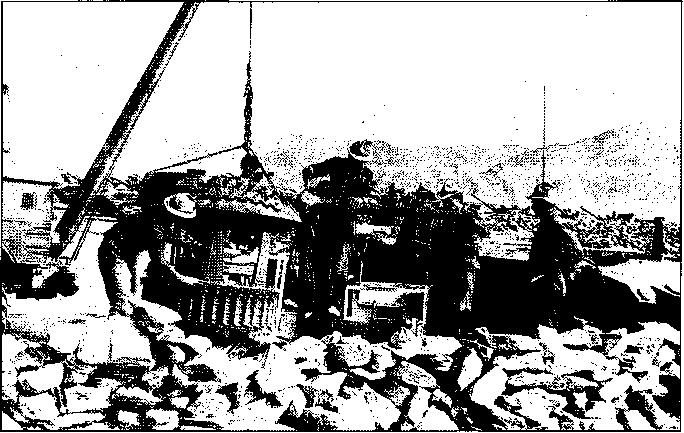 Motorized rifle regiment command post in the field,